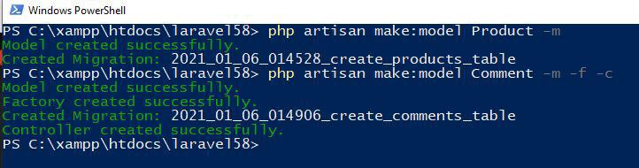 Create Model in Laravel 5.8