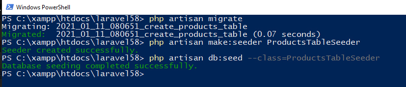 Seeder and Model Factory in Laravel 5.8