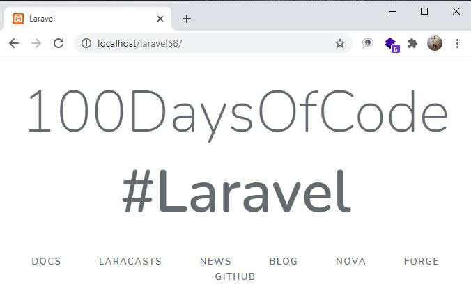 Create Project Laravel 5.8 using Composer